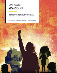 Cover of We Vote, We Count report