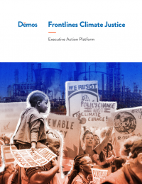 Cover for the Frontlines Climate Justice Executive Action Platform