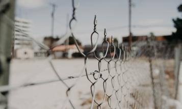Shallow focus of a fence
