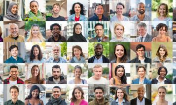 Grid of diverse faces