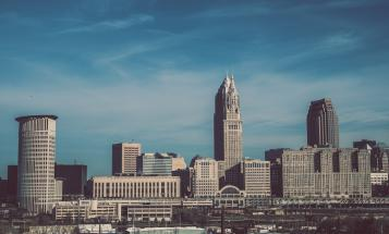 View of the Cleveland Ohio skyline