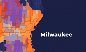 Milwaukee Census and Voter turnout map