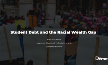 The first slide of Student Debt and the Racial Wealth Gap