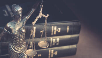 Lady justice and legal books