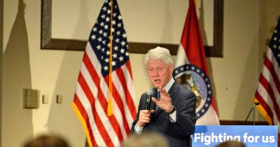 Former President Bill Clinton at a rally