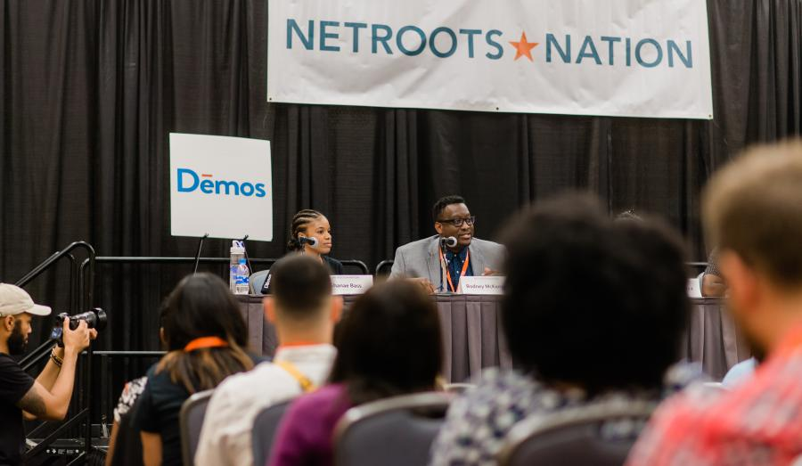 Shanae Bass and Rodney McKenzie, Jr at Netroots Keep That Same Energy