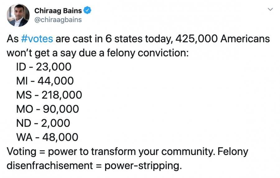 Chiraag on the impact of felony disenfranchisement on March 2020 primaries