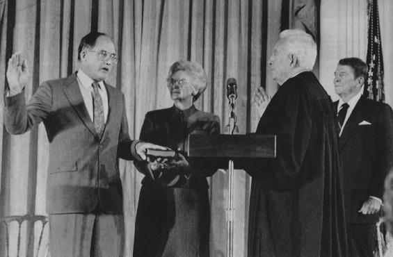 William H. Rehnquist's swearing in as Chief Justice