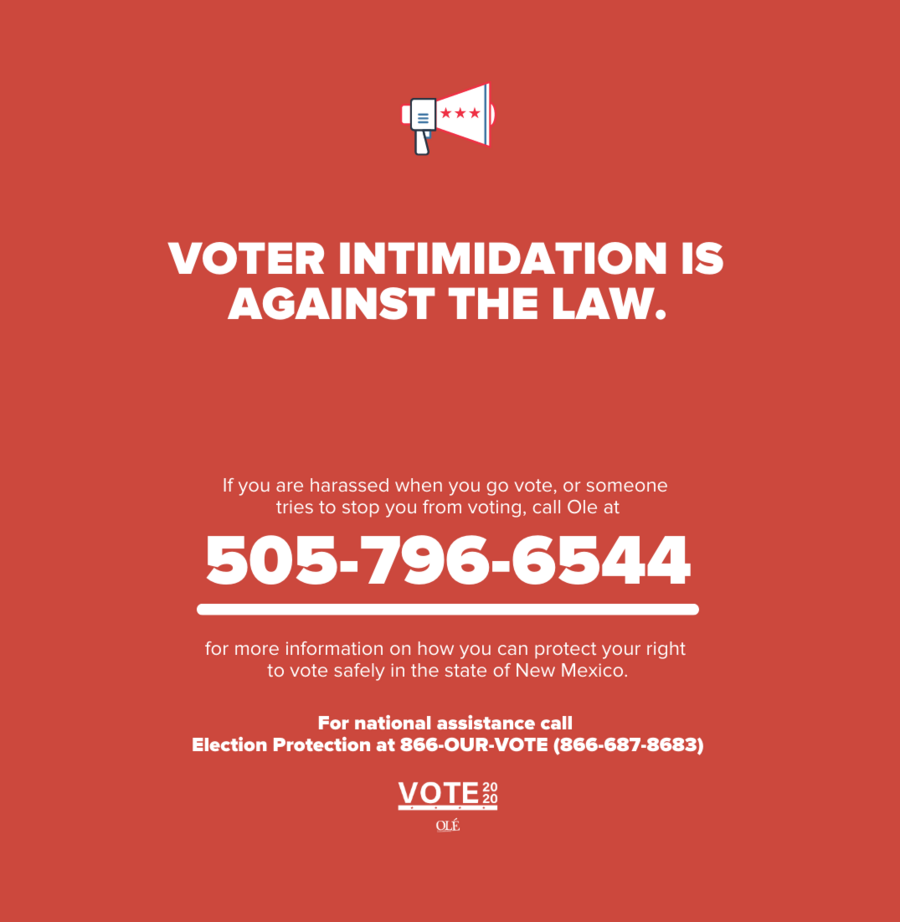 Voter Intimidation is against the law.